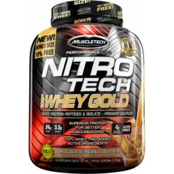 NitroTech 100% Whey Gold (5.54 lbs) - 76 servings